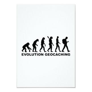 """Evolución Geocaching Invitación 3.5"""" X 5"""""""