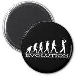 Evolución - hombre - golf imán para frigorifico