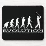 Evolución - hombre - golf tapetes de ratones