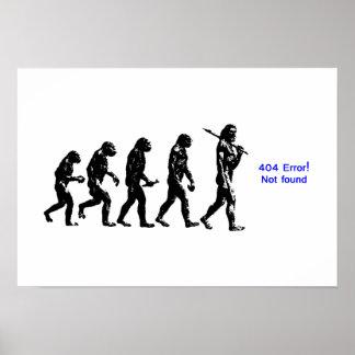 evolución humana de 404 errores poster