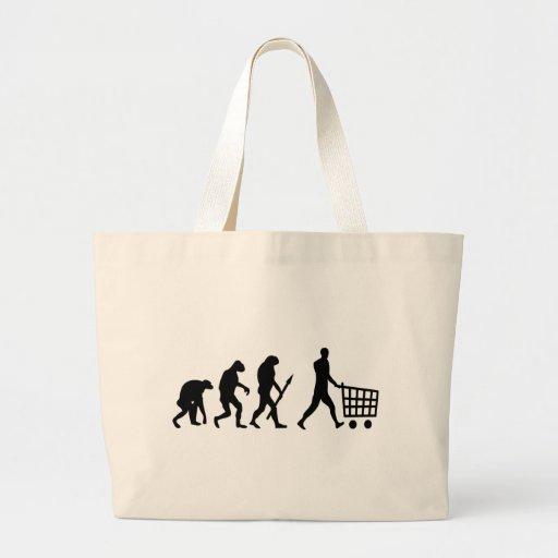 evolución humana de las compras bolsa de mano