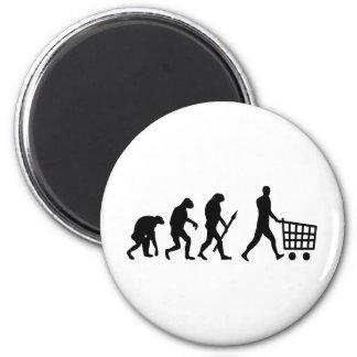 evolución humana de las compras imanes