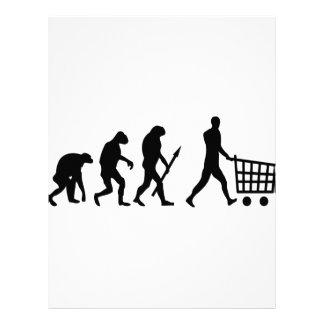 evolución humana de las compras plantillas de membrete