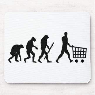evolución humana de las compras alfombrilla de ratones