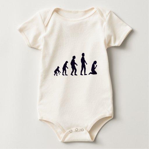 EVOLUCIÓN HUMANA, figuras, regalos Body Para Bebé