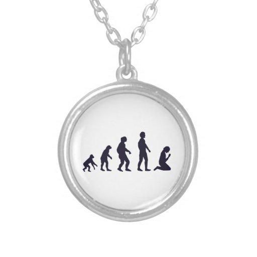EVOLUCIÓN HUMANA, figuras, regalos Colgante Redondo