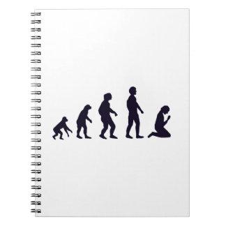 EVOLUCIÓN HUMANA, figuras, regalos Libretas Espirales