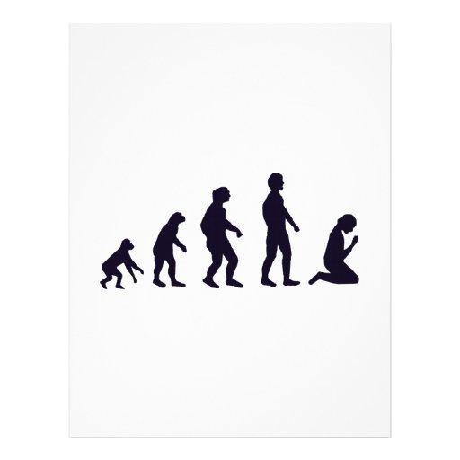 EVOLUCIÓN HUMANA, figuras, regalos Plantilla De Membrete
