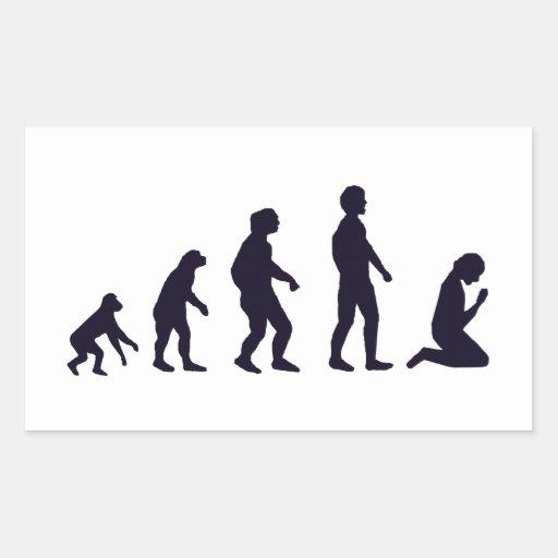 EVOLUCIÓN HUMANA, figuras, regalos Pegatina Rectangular