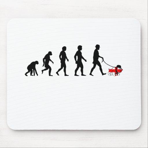 Evolución inglesa alfombrillas de raton