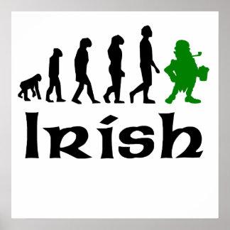 Evolución irlandesa del Leprechaun Posters