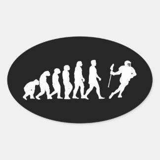 Evolución LaCrosse Pegatina De Oval