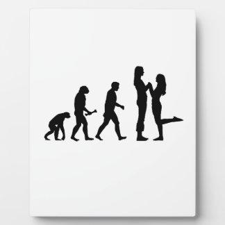 Evolución lesbiana de la boda placas para mostrar