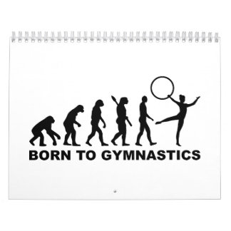Evolución llevada a la gimnasia calendario de pared