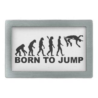 Evolución llevada al salto de altura hebillas cinturon rectangulares