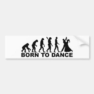 Evolución llevada para bailar pegatina para auto