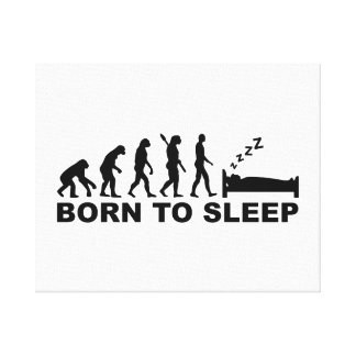 Evolución llevada para dormir impresion de lienzo