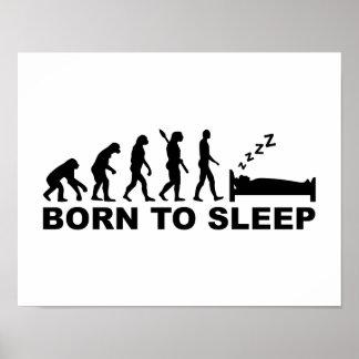 Evolución llevada para dormir póster
