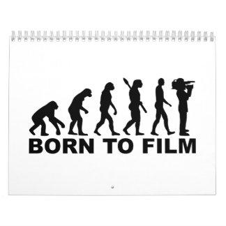 Evolución llevada para filmar calendarios de pared