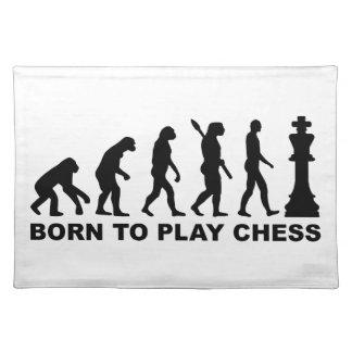 Evolución llevada para jugar a ajedrez manteles individuales