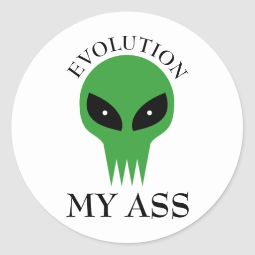 Evolución mi asno pegatina redonda