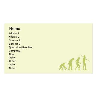 Evolución - negocio tarjetas de negocios
