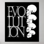 Evolución (negro, con la frontera blanca) póster