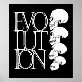 Evolución negro con la frontera blanca poster