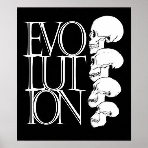 Evolución (negro, con la frontera blanca) poster