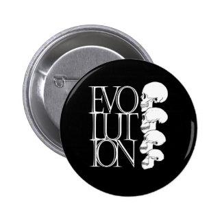 Evolución (negro) pin redondo de 2 pulgadas