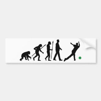 Evolución of usted bowling sport etiqueta de parachoque