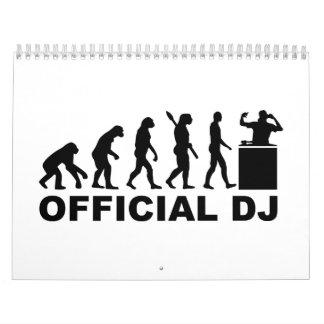 Evolución oficial de DJ Calendario De Pared