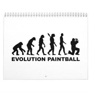Evolución Paintball Calendario De Pared