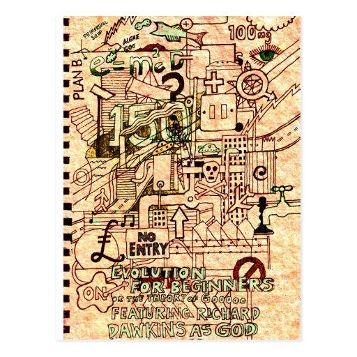 Evolución para los principiantes tarjetas postales