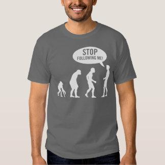 ¡evolución - pare el seguir de mí! polera
