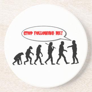 Evolución. Pare el seguir de mí Posavasos Manualidades