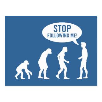 ¡evolución - pare el seguir de mí! tarjetas postales