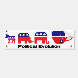 Evolución política pegatina para auto