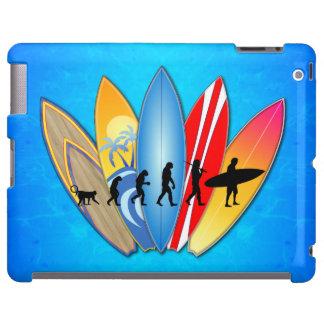 Evolución que practica surf funda para iPad