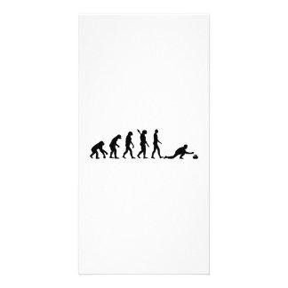 Evolución que se encrespa tarjetas personales