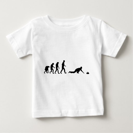 evolución que se encrespa tee shirts