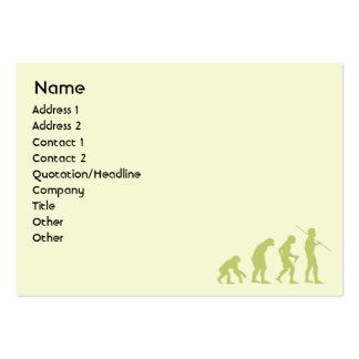 Evolución - rechoncha tarjeta de visita