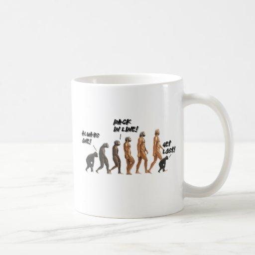 Evolución - saltando a continuación taza