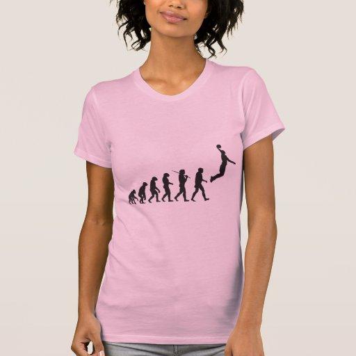 Evolución - salto del baloncesto camiseta