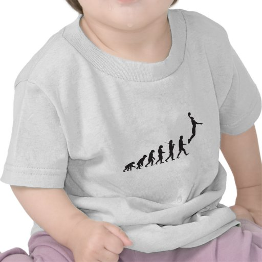 Evolución - salto del baloncesto camisetas