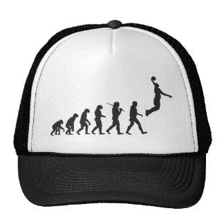 Evolución - salto del baloncesto gorros