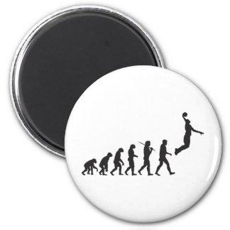 Evolución - salto del baloncesto imán redondo 5 cm