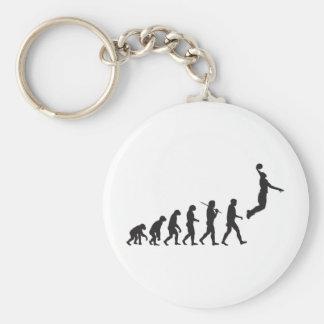 Evolución - salto del baloncesto llavero redondo tipo pin