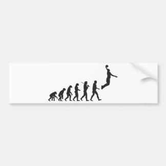 Evolución - salto del baloncesto pegatina para auto