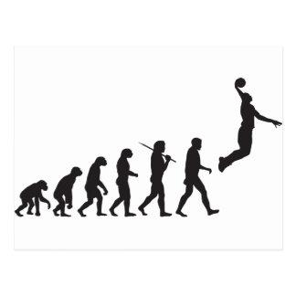 Evolución - salto del baloncesto postales
